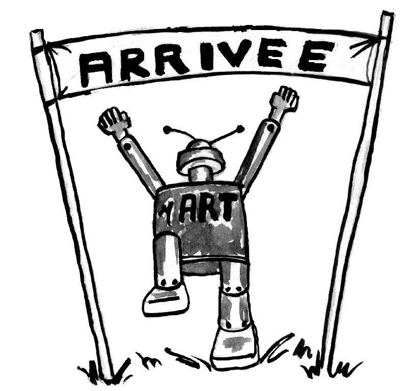 Illustration robot arrivée