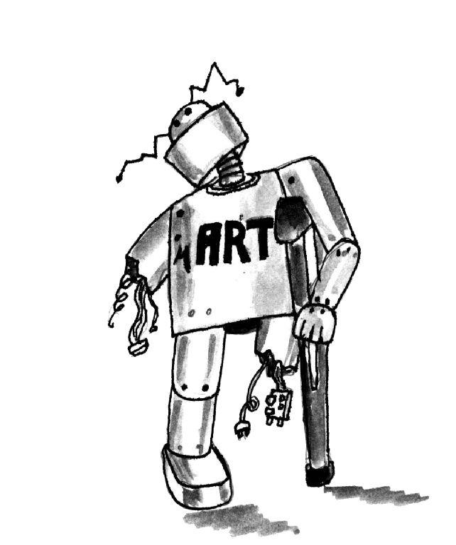 Illustration robot handicapé