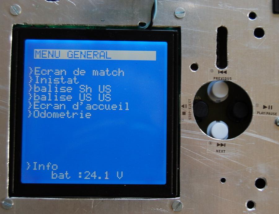 écran lcd menu