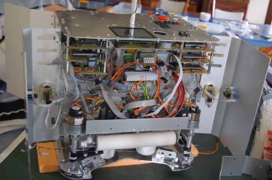 Les entrailles de Mars'L, avant du robot