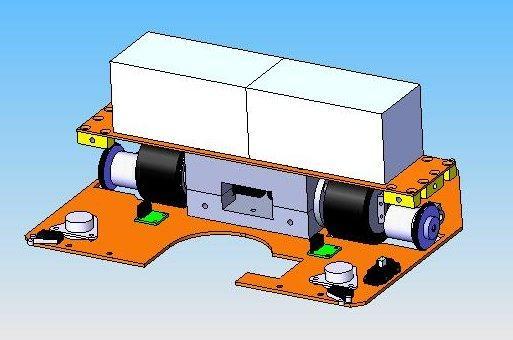 Modélisation base roulante plus batterie