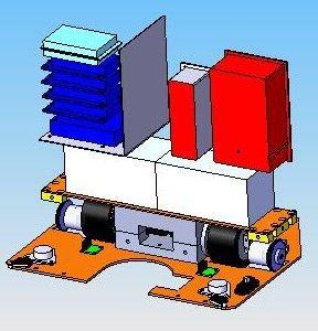 Modélisation base roulante plus electronique
