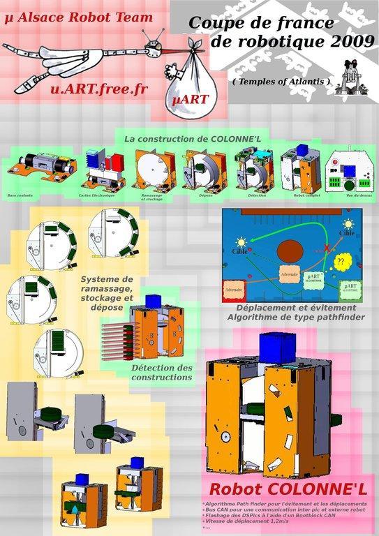 Affiche du robot Colonne'L Eurobot 2009
