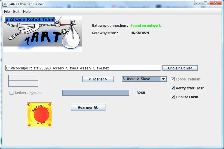 Screenshot Ethernet Flasher
