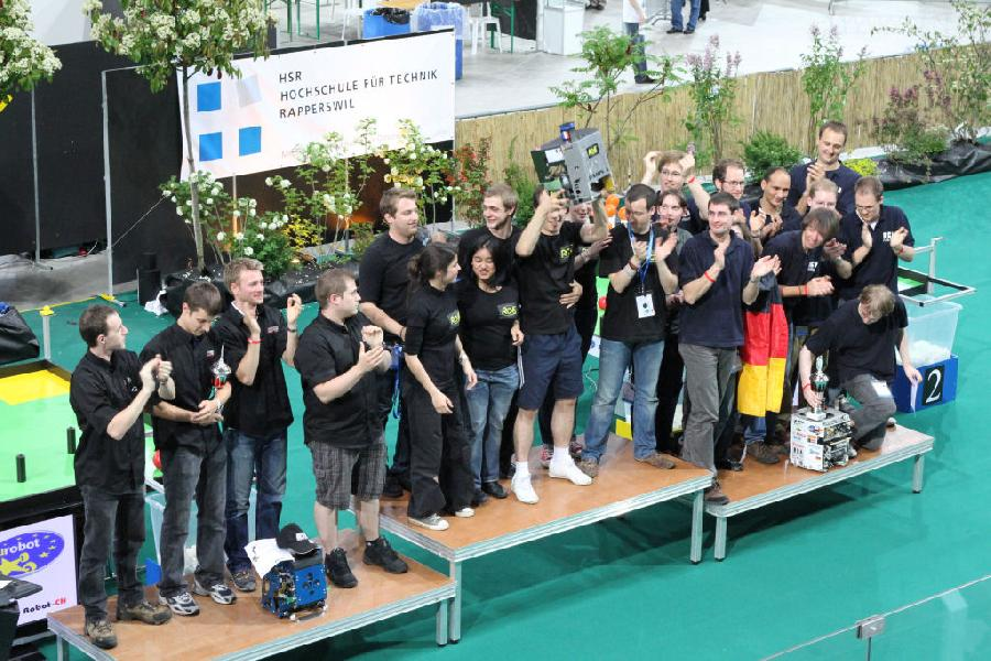 Podium eurobot 2010