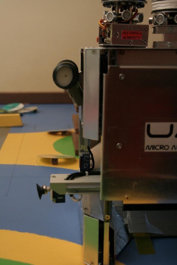 Grand robot pour les sponsors actionneur latéraux